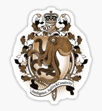 Octopus Coat Of Arms Heraldry Sticker