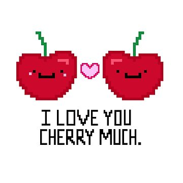 Pixelated Cherry Love by staceyroman