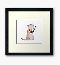 Harry Pawter Otter  Framed Print