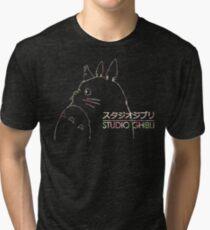 Studio Ghibli Totoro Floral Tri-blend T-Shirt