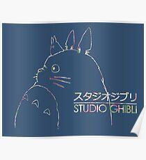 Studio Ghibli Totoro Floral Poster