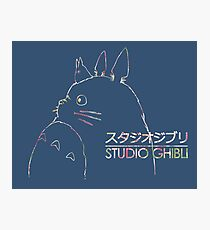 Studio Ghibli Totoro Floral Photographic Print