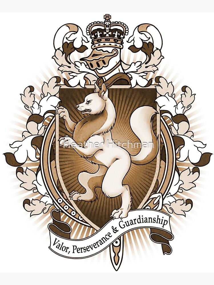 Wolf Coat Of Arms Heraldry by helloheath