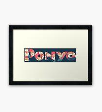 Ponyo Logo Framed Print