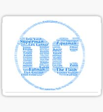 DC Word Cloud Sticker