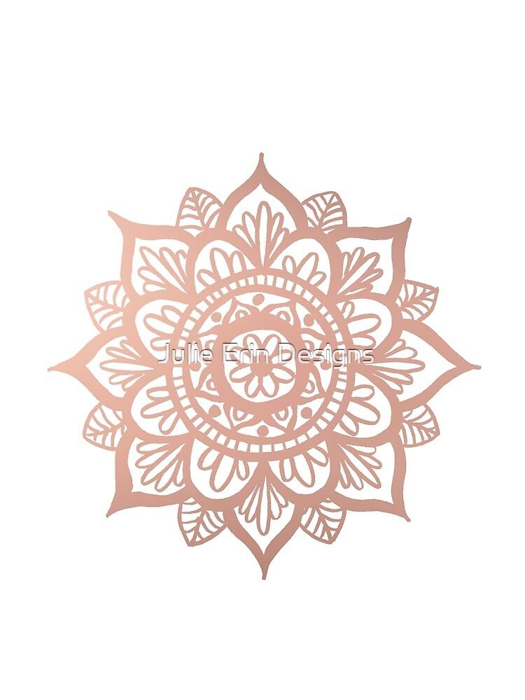 Nuevo Mandala de oro rosa de julieerindesign