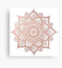 New Rose Gold Mandala Canvas Print