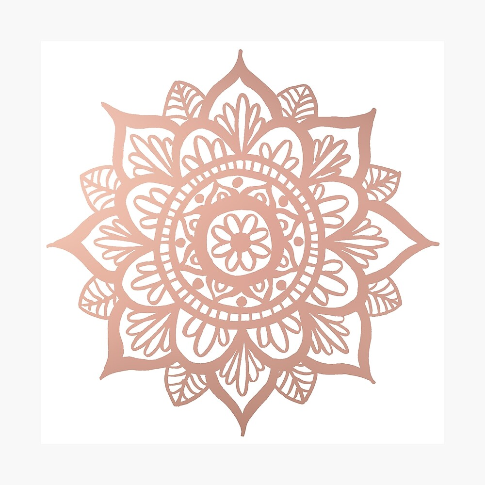 Nuevo Mandala de oro rosa Lámina fotográfica