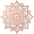 New Rose Gold Mandala by julieerindesign