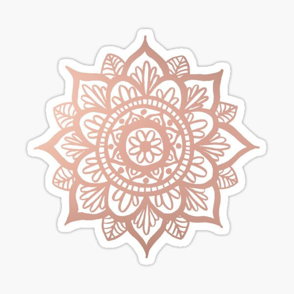 New Rose Gold Mandala Sticker