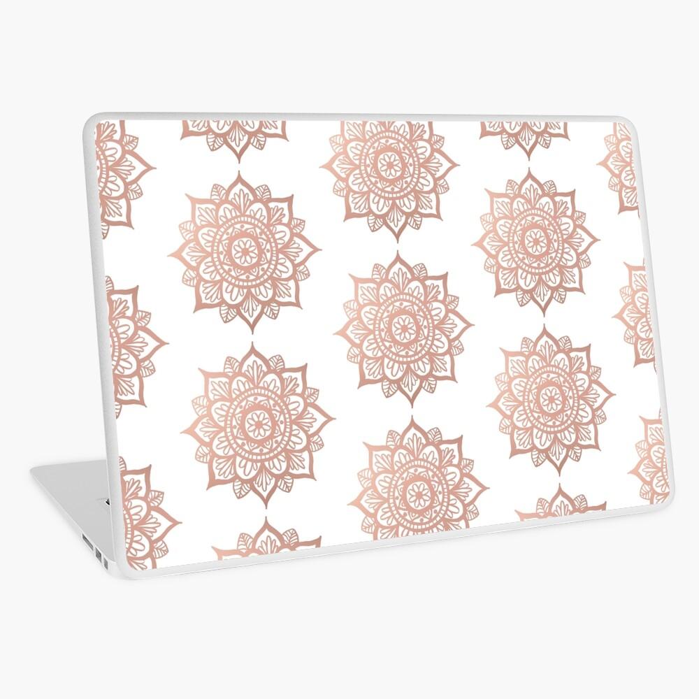 Nuevo Mandala de oro rosa Vinilo para portátil