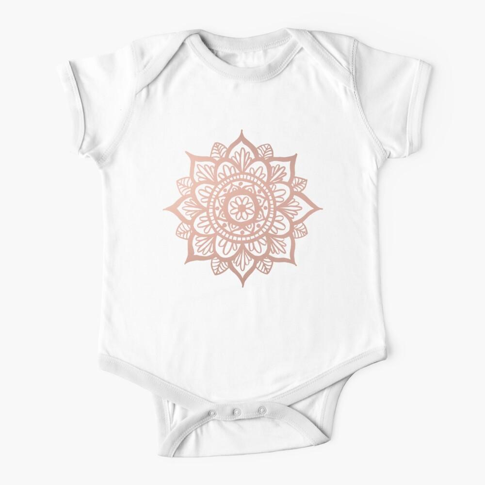 Nuevo Mandala de oro rosa Body para bebé