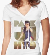 PArk Ji hyo signal twice Women's Fitted V-Neck T-Shirt
