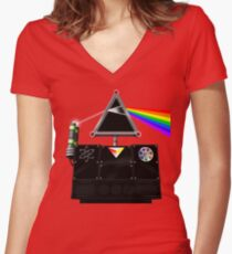 This Island Earth Interocitor Dark Side Prism Women's Fitted V-Neck T-Shirt