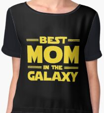 Best Mom in The Galaxy Women's Chiffon Top