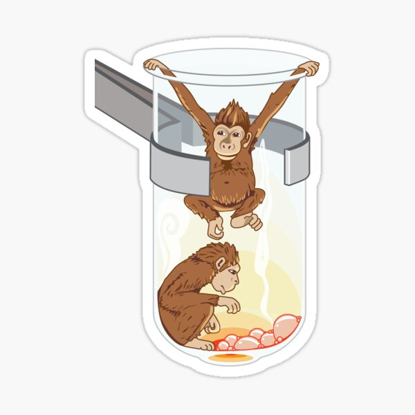 Monkeys in a Test Tube Sticker