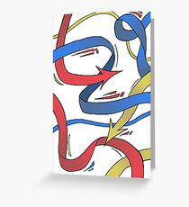 Primary Arrows Greeting Card