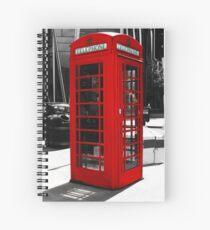 London - Classic Telephone Box Spiral Notebook