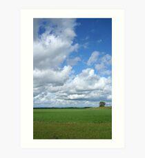 Prairie Clouds Art Print
