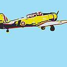 Old World War II airplane graphic lithograph by Mark Malinowski