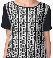 Black and white lines 2 Women's Chiffon Top