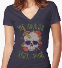 Yet Another Skull Shirt Women's Fitted V-Neck T-Shirt