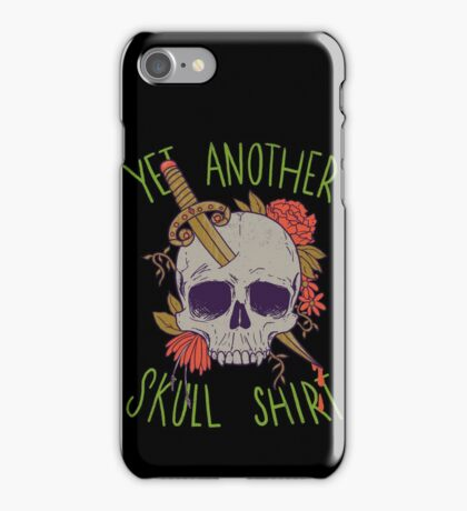 Yet Another Skull Shirt iPhone Case/Skin