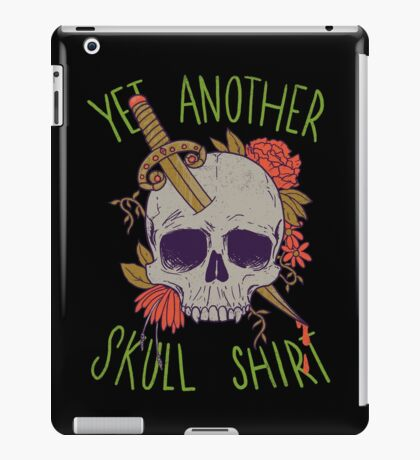 Yet Another Skull Shirt iPad Case/Skin