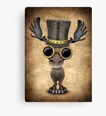 Steampunk Baby Moose  Canvas Print