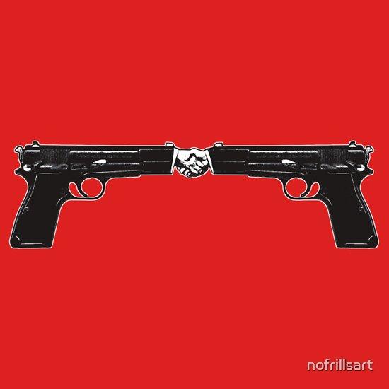 TShirtGifter presents: War and peace (Hand Guns)