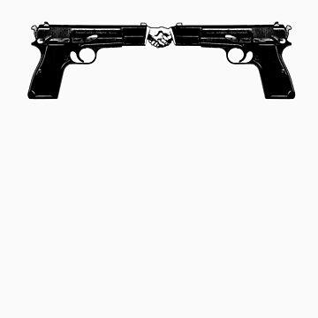 War and peace (Hand Guns) by nofrillsart