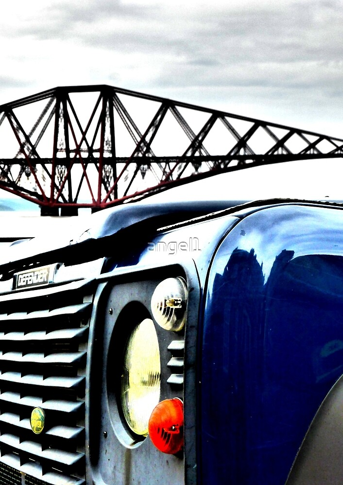 SUV in front of Forth Rail Bridge by ©The Creative  Minds