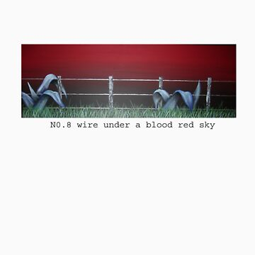 No. 8 wire on a blood red sky by amandapilbrow