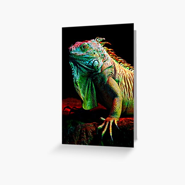 Iguana From The Deep Greeting Card