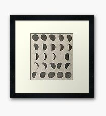 Antique Moon Phases Chart Framed Print