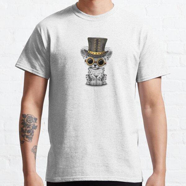 Steampunk Snow Leopard Cub Classic T-Shirt