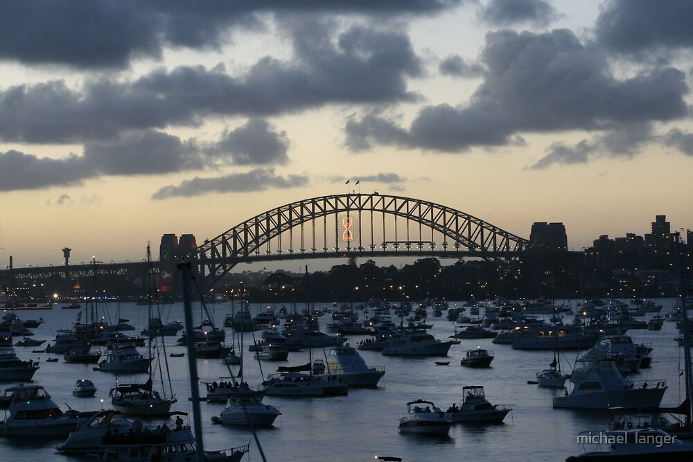 Sydney habour traffic jam  by michael  langer