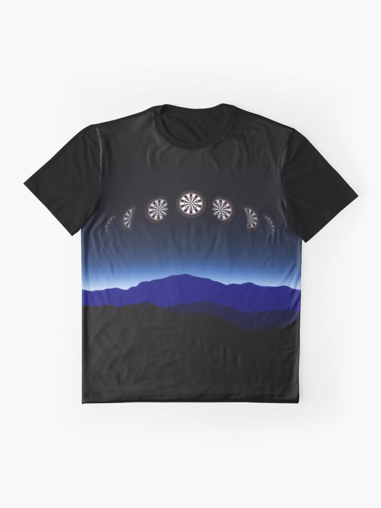 Alternate view of Moon Phases Darts Shirt Graphic T-Shirt