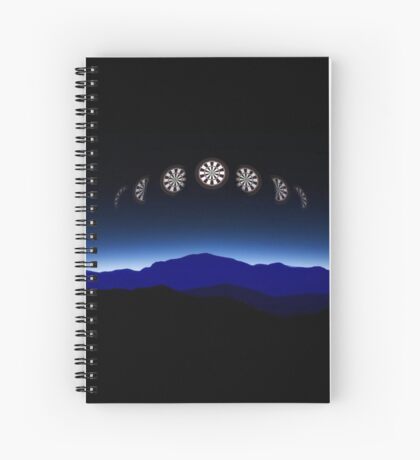 Moon Phases Darts Shirt Spiral Notebook