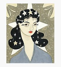 Remember me Remarkable - girl with stars Photographic Print