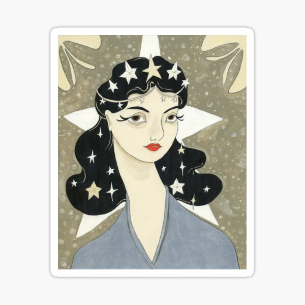 Remember me Remarkable - girl with stars Sticker