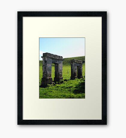 Doorways to the Past Framed Print