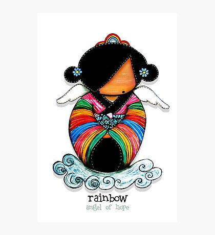 Rainbow - Angel of Hope Photographic Print