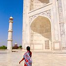 A Walk at the Taj Mahal by Barbara  Brown