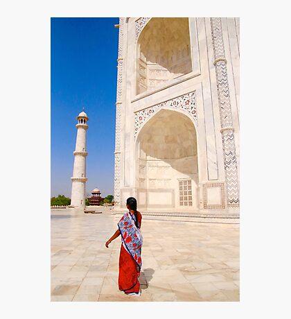 A Walk at the Taj Mahal Photographic Print