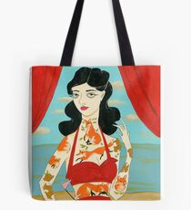 Foxy Tattooed Lady Tote Bag