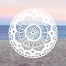 Beach Sunset Mandala by julieerindesign