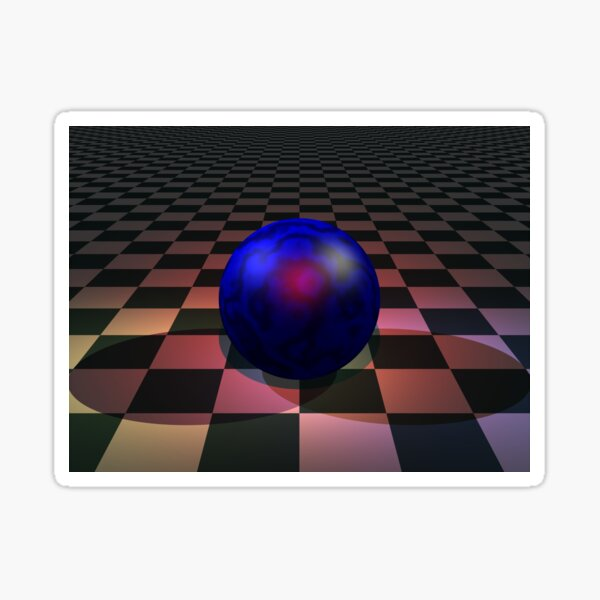 Spot Lite: POV RAY CGI! Sticker
