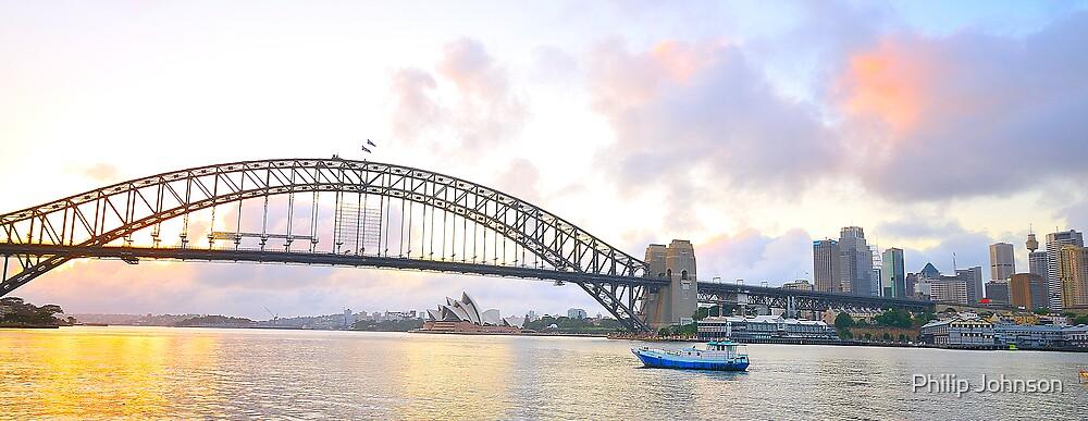 Pink - Sydney Harbour, Sydney , Australia by Philip Johnson