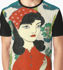 Girl with Cacti Graphic T-Shirt